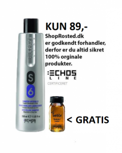 S6 Shampoo - Echosline Anti–Yellow Shampoo 350 ml med 1 luxury lotion - Værdi 318