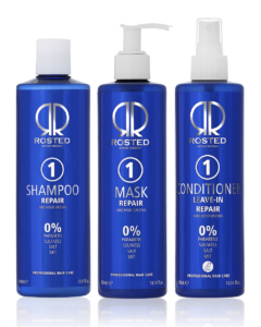 Rosted 1-1-1 Repair Pakke - Rosted 1 Shampoo 400 ml - Rosted 1 Mask 300 ml - Rosted 1 Conditioner 300 ml - Værdi 687,-