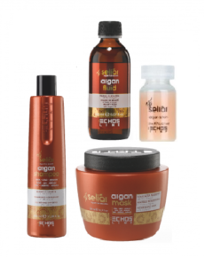 Argan Pakke - Argan Shampoo 350 ml - Argan Mask 500 ml - Argan Fluid 150 ml + Argan Lotion Værdi 836,-