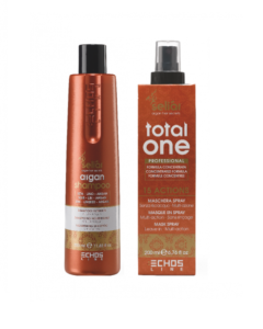 Fugtgivenede Argan Shampoo 350ml - Total one 200ml