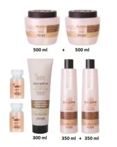 Regina Fra hell's kitchen - Anti-Krus - 2 x Shampoo 350-  2 Mask 500 ml  - 1 Conditioner 300 ml - 2 x Aragn Lotion