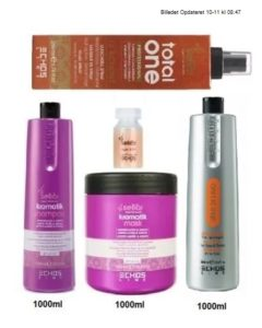 Styrke Stine Sara - Kromatik Shampoo 1000 ml - Kromatik Mask 1000 ml - Semi Di Lino Conditinor 1000 ml - Total one 200 ml - Argan Lotion - Værdi 1548,-